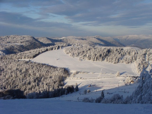 Familienfreundliche Skistation Le Rouge Gazon für Ski Alpin und Ski Nordisch in Saint-Maurice-sur-Moselle