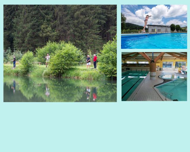 Swimming pools, Lakes, Fishing