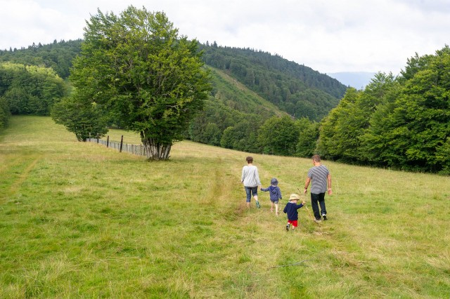 Walks itineraries for the families