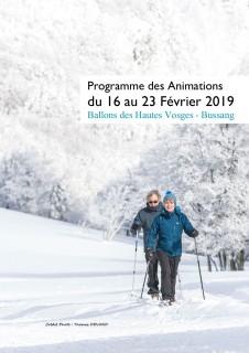 Programme des animations du 16 au 23 fevrier 2019